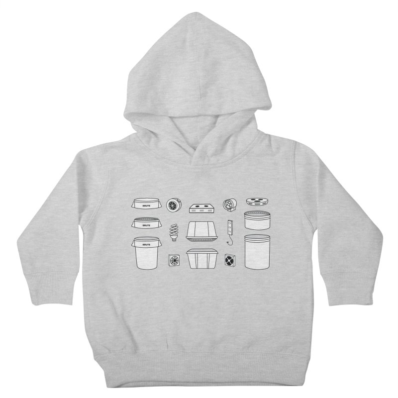 Bucket Builder Kids Toddler Pullover Hoody by spacebuckets's Artist Shop