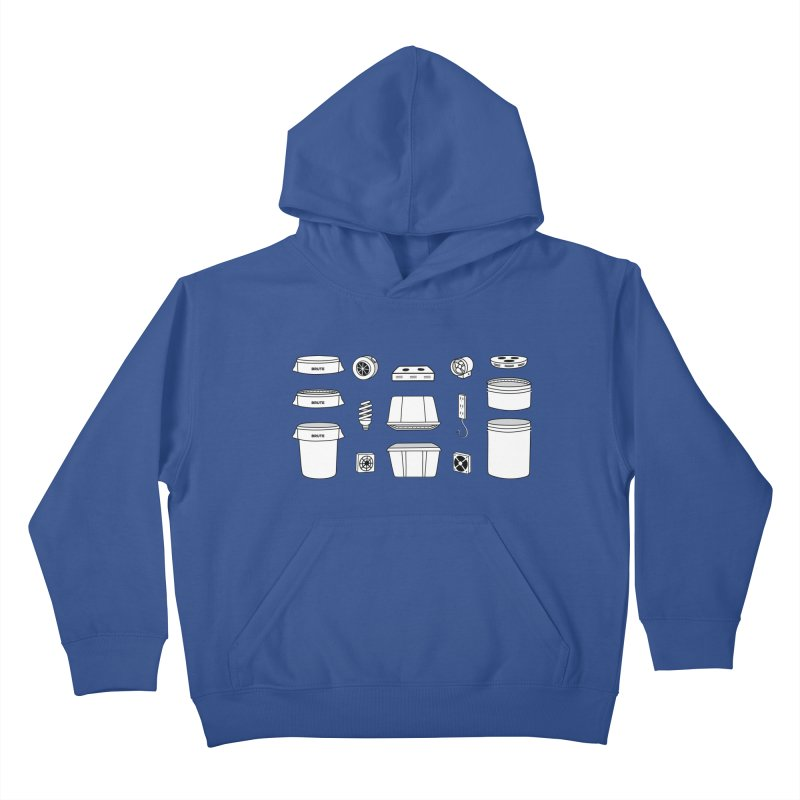 Bucket Builder Kids Pullover Hoody by spacebuckets's Artist Shop