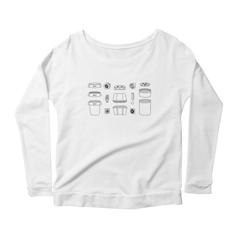 Bucket Builder Women's Scoop Neck Longsleeve T-Shirt by spacebuckets's Artist Shop
