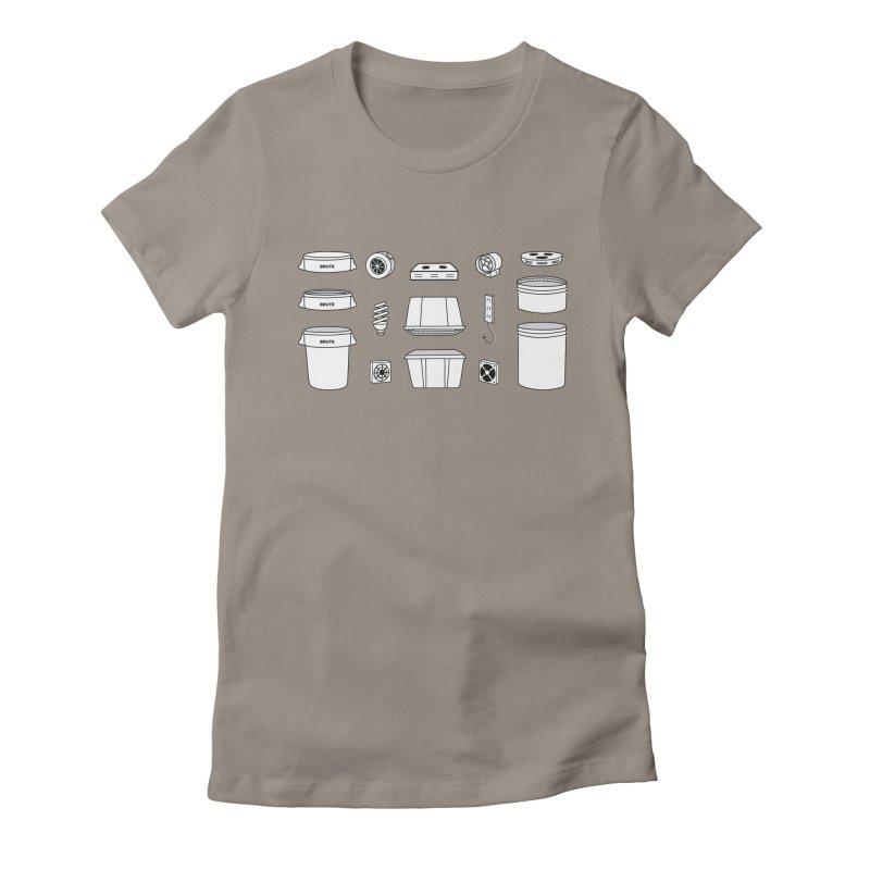 Bucket Builder Women's Fitted T-Shirt by spacebuckets's Artist Shop