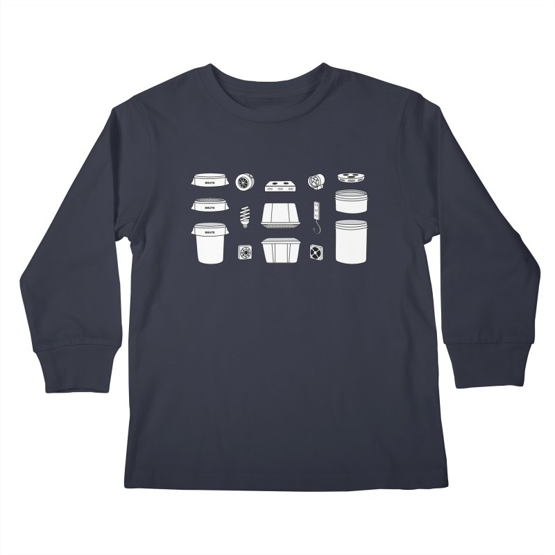 Bucket Builder Kids Longsleeve T-Shirt by spacebuckets's Artist Shop