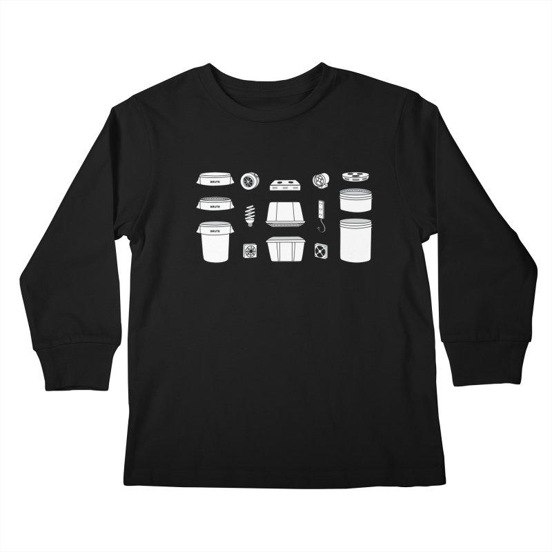 Bucket Builder Kids Longsleeve T-Shirt by spacebuckets's Artist Shop