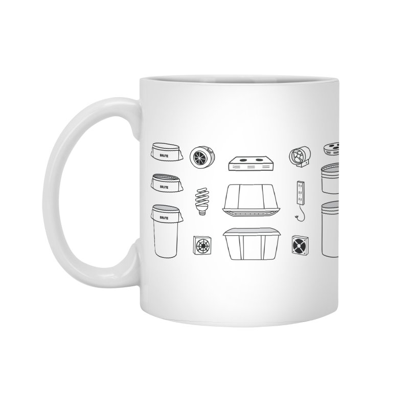 Bucket Builder Accessories Standard Mug by spacebuckets's Artist Shop