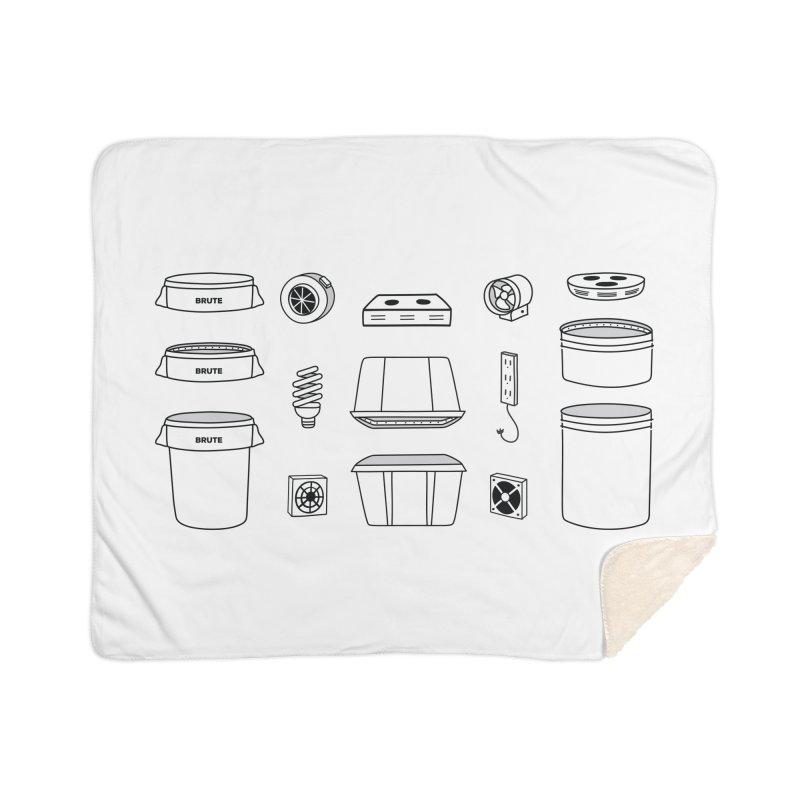 Bucket Builder Home Sherpa Blanket Blanket by spacebuckets's Artist Shop