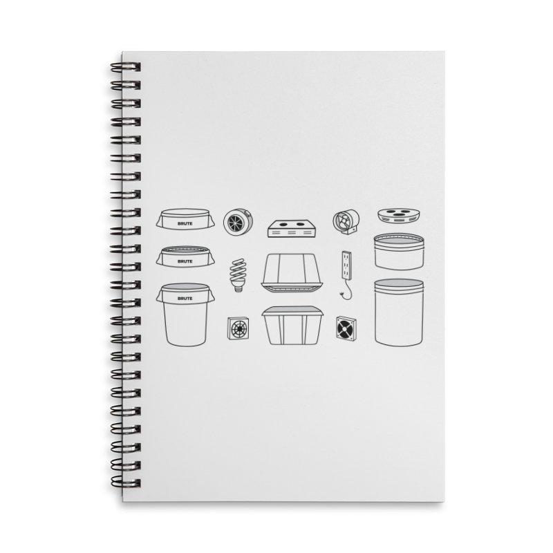 Bucket Builder Accessories Lined Spiral Notebook by spacebuckets's Artist Shop