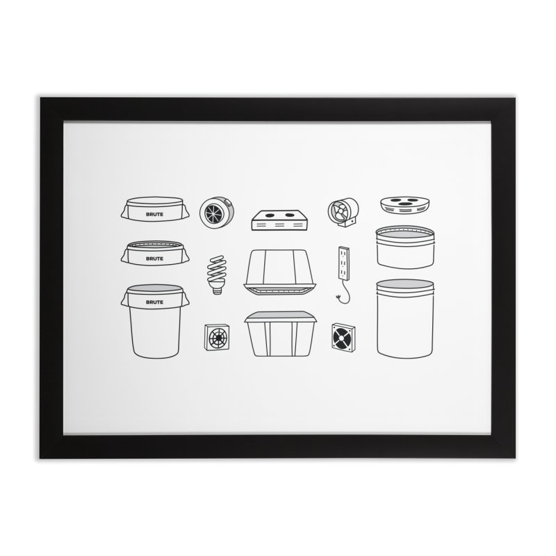 Bucket Builder Home Framed Fine Art Print by spacebuckets's Artist Shop