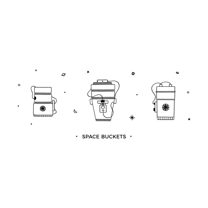 Space Buckets Mk. I Accessories Zip Pouch by spacebuckets's Artist Shop