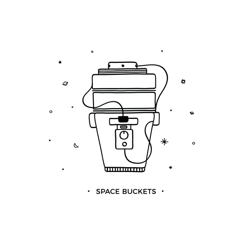 Space Bucket #1 Women's Scoop Neck by spacebuckets's Artist Shop