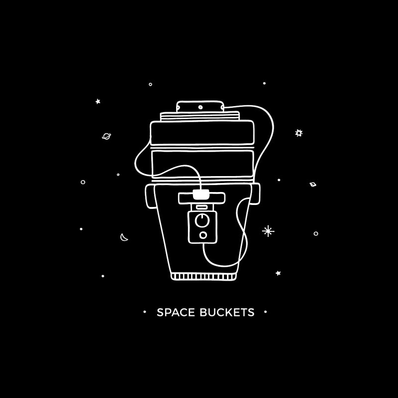 Space Bucket #1 white Women's Sweatshirt by spacebuckets's Artist Shop