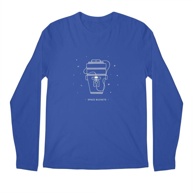 Space Bucket #1 white Men's Longsleeve T-Shirt by spacebuckets's Artist Shop