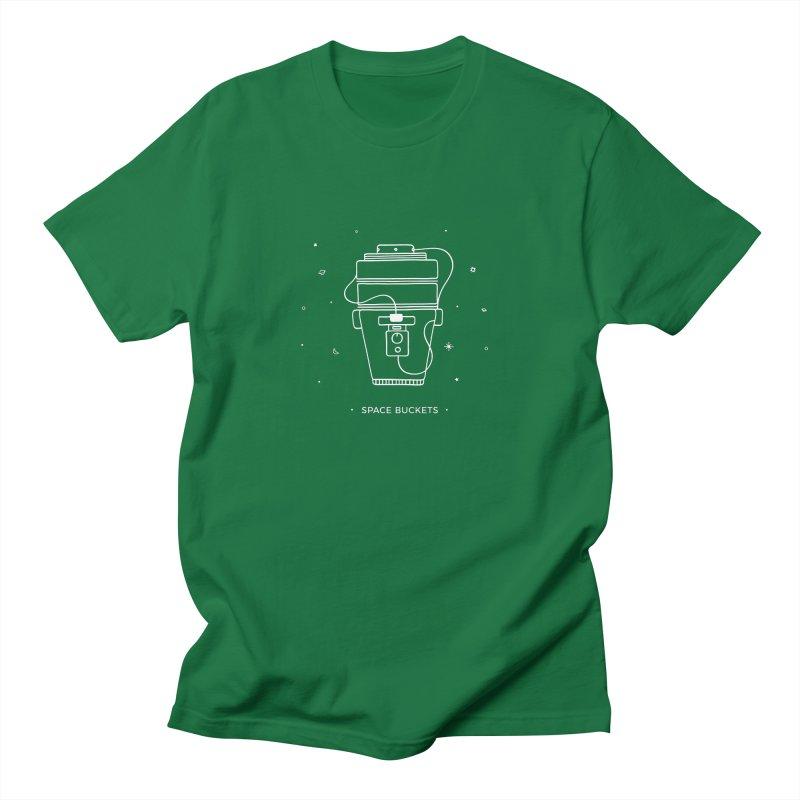 Space Bucket #1 white Men's T-Shirt by spacebuckets's Artist Shop