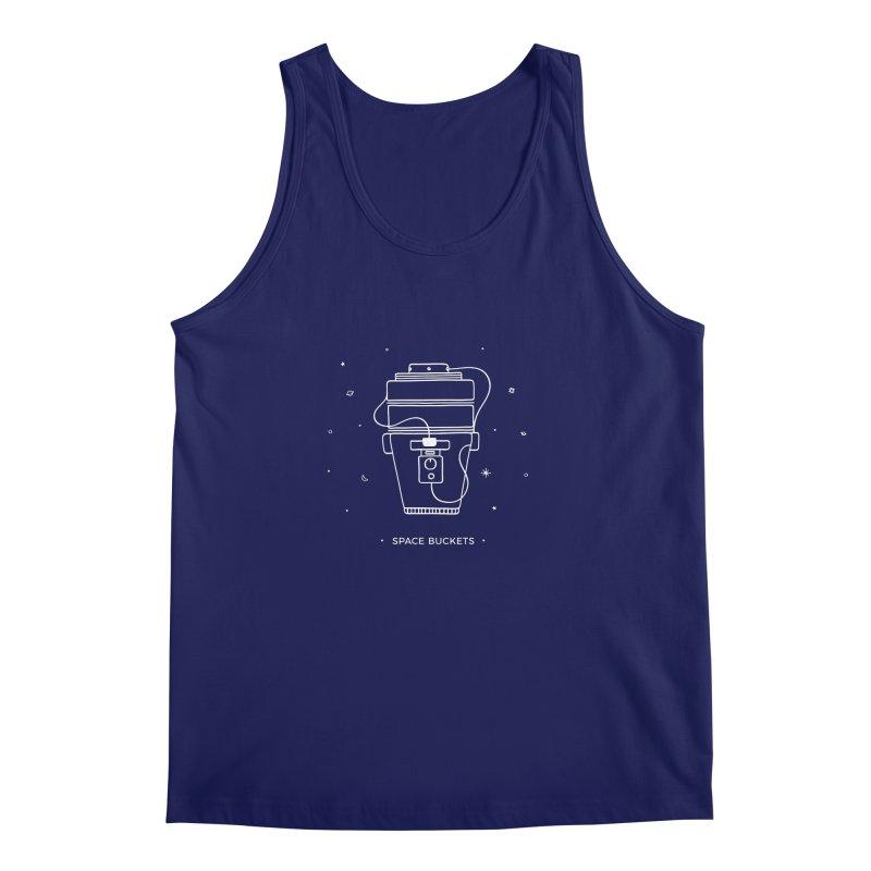 Space Bucket #1 white Men's Regular Tank by spacebuckets's Artist Shop