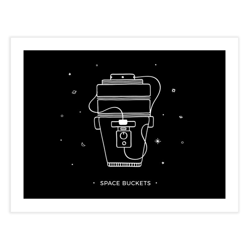 Space Bucket #1 white Home Fine Art Print by spacebuckets's Artist Shop