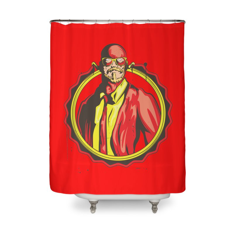 Spacedoutlab Hipster League The Flash Home Shower Curtain