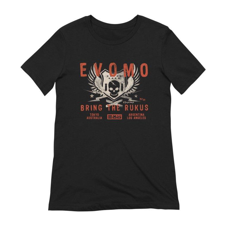 Evomo Rukus International Women's T-Shirt by EVOMO BRING THE RUKUS
