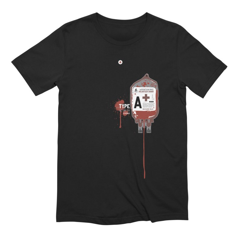 Evomo Blood Donor Men's T-Shirt by EVOMO BRING THE RUKUS