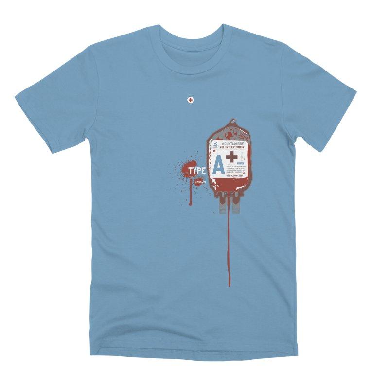 Evomo Blood Donor Men's T-Shirt by EVOMO BRING THE RUKUS