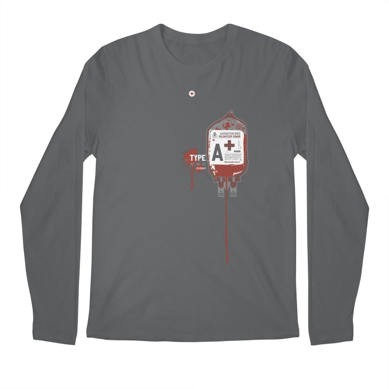 Evomo Blood Donor Men's Longsleeve T-Shirt by EVOMO BRING THE RUKUS