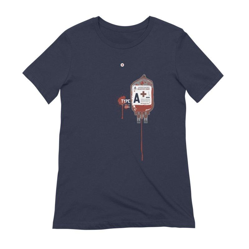 Evomo Blood Donor Women's T-Shirt by EVOMO BRING THE RUKUS