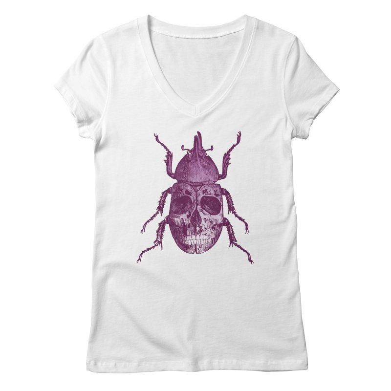 Coleoptera Mortem Women's V-Neck by Space Jockey