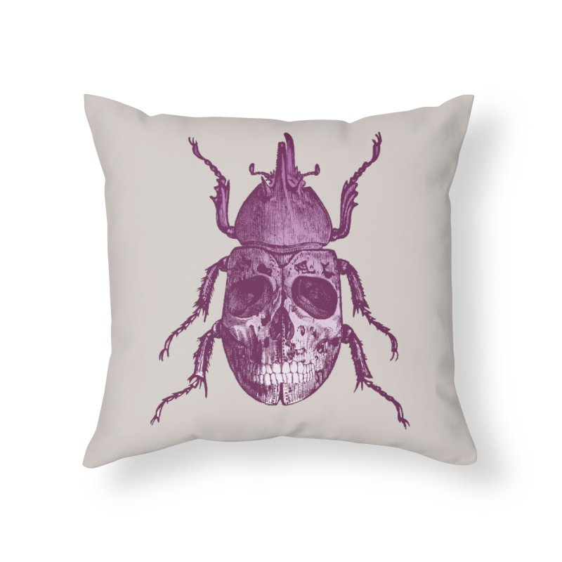 Coleoptera Mortem Home Throw Pillow by Space Jockey