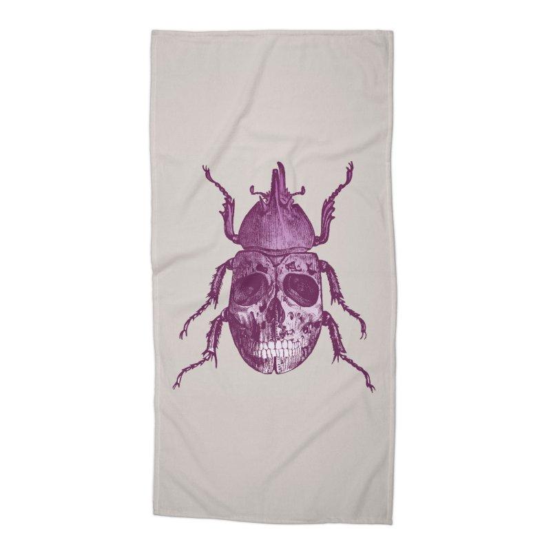Coleoptera Mortem Accessories Beach Towel by Space Jockey