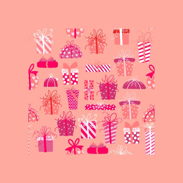 Design for Pink Christmas Presents Pattern