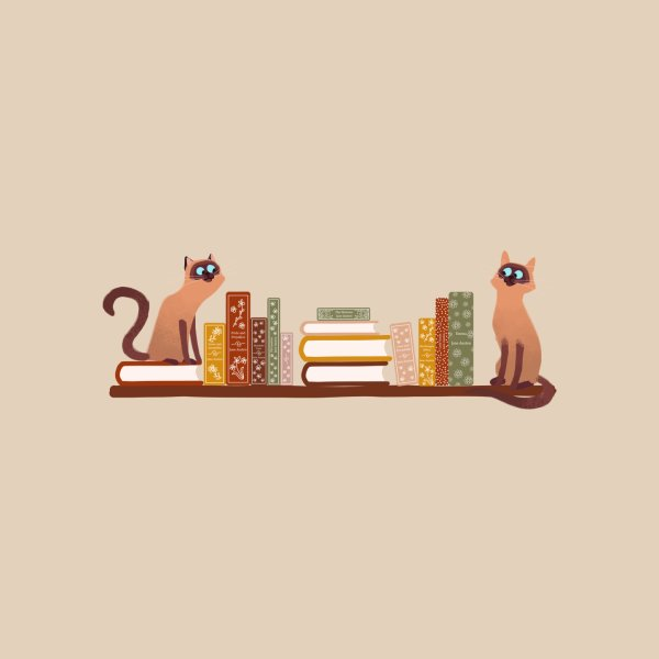 image for Cats on Bookshelf with Jane Austen Books