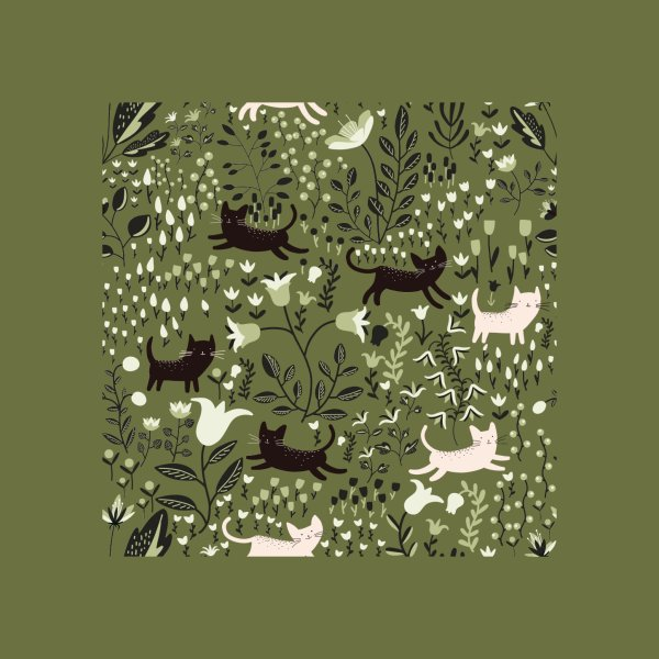 image for Cats in the Garden Pattern