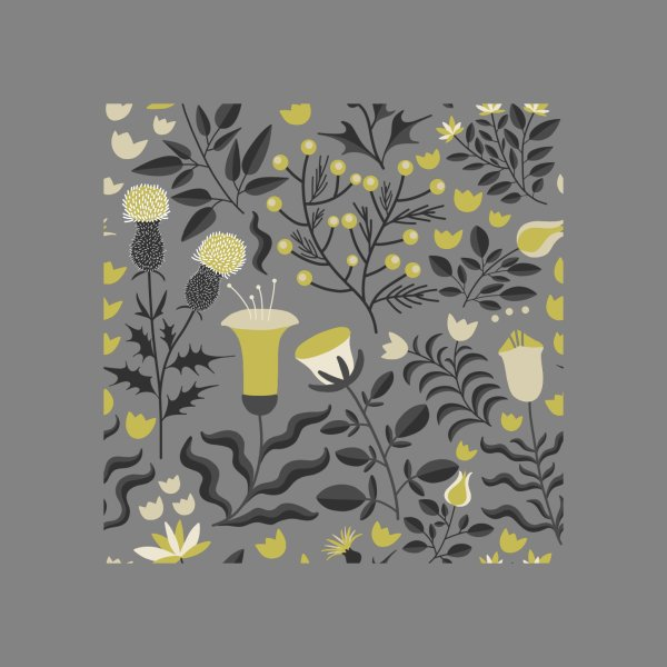 image for Yellow and Grey Floral Pattern