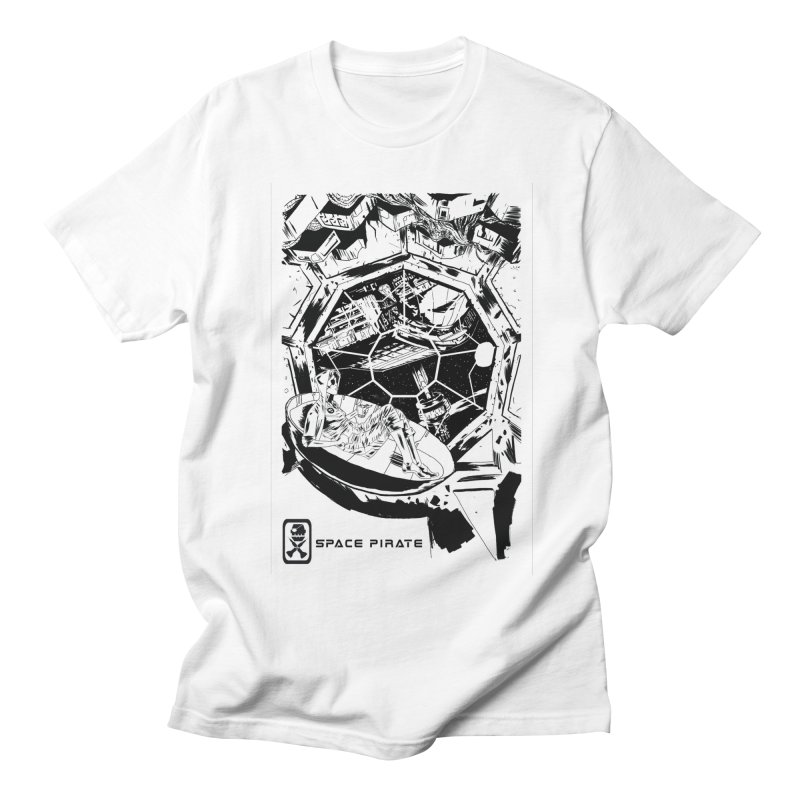 Space Station Men's T-Shirt by Space Pirate