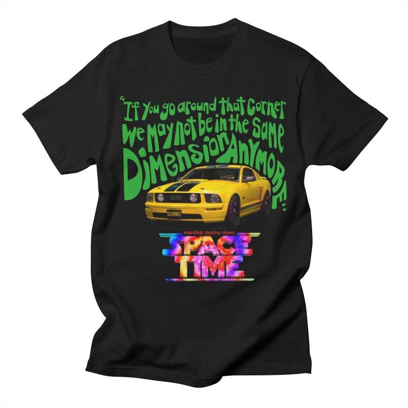 Space Time Car Dimension T-Shirt Men's T-Shirt by spacetimethemovie's Artist Shop
