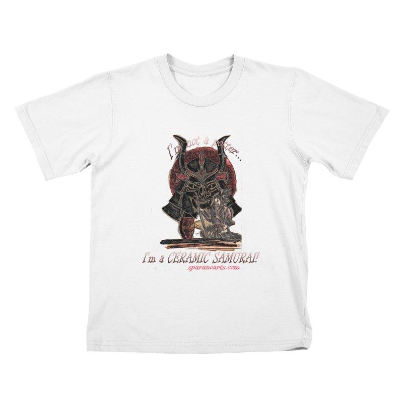 Ceramic Samurai Kids T-Shirt by sparanoarts's Artist Shop