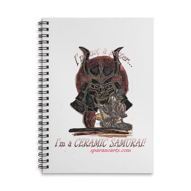 Ceramic Samurai Accessories Notebook by sparanoarts's Artist Shop