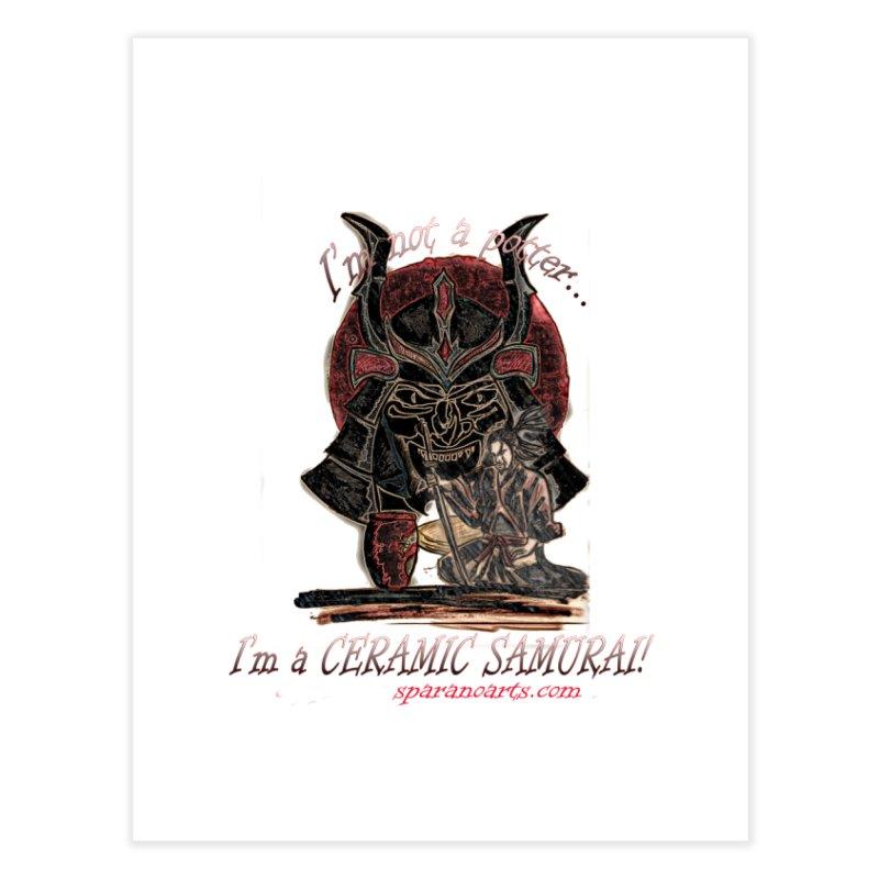 Ceramic Samurai Home Fine Art Print by sparanoarts's Artist Shop