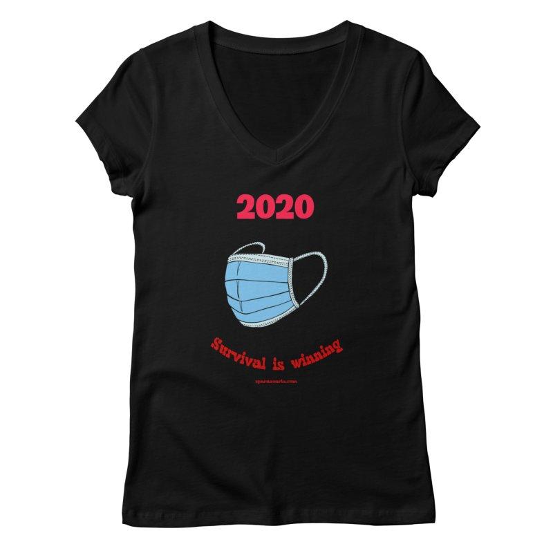 2020 Survival Women's V-Neck by sparanoarts's Artist Shop