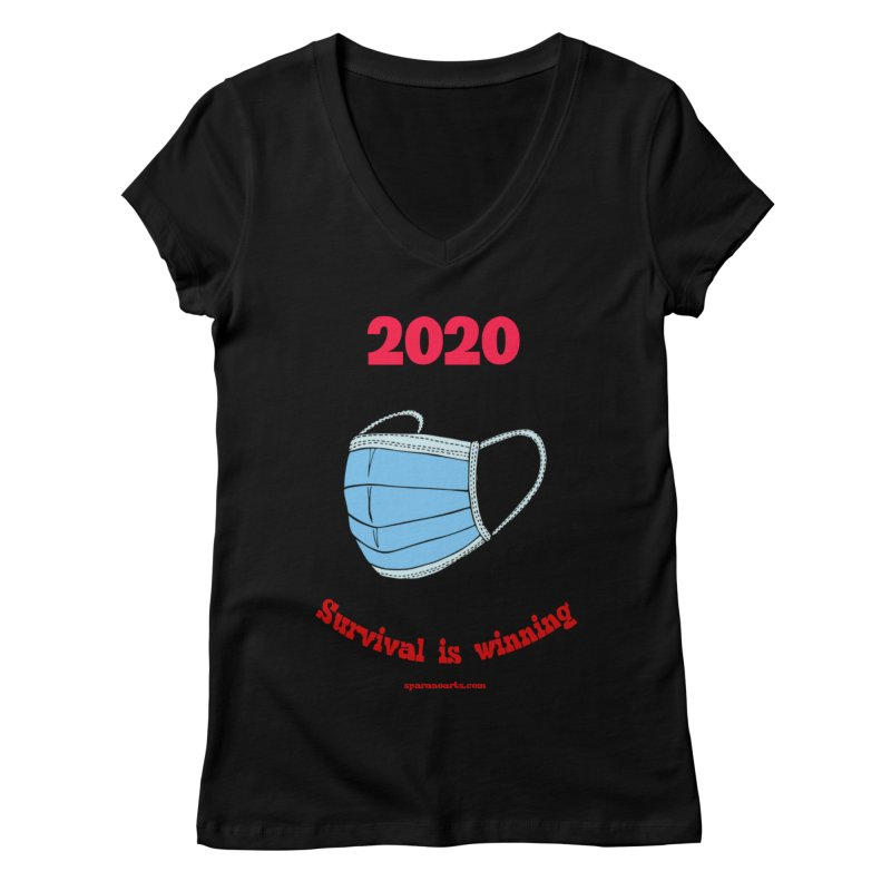 2020 Survival Women's V-Neck by sparanoarts's Artist Shop