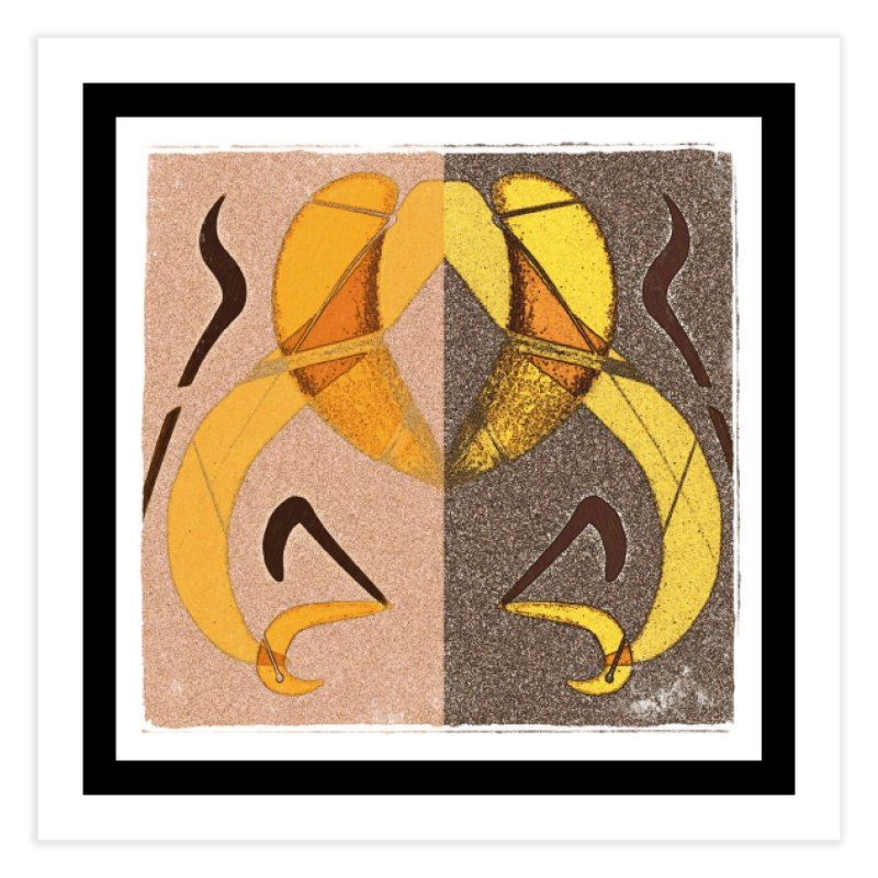 Art Deco Mirrored Abstract art print in Fine Art Print by sparanoarts's Artist Shop
