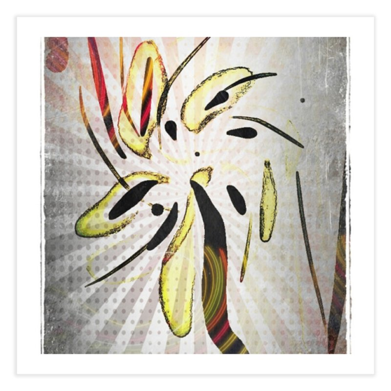 Floral Anime abstract art print in Fine Art Print by sparanoarts's Artist Shop