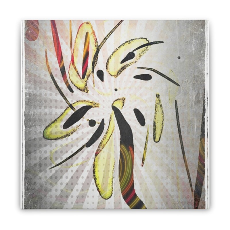 Floral Anime abstract art print Home Stretched Canvas by sparanoarts's Artist Shop