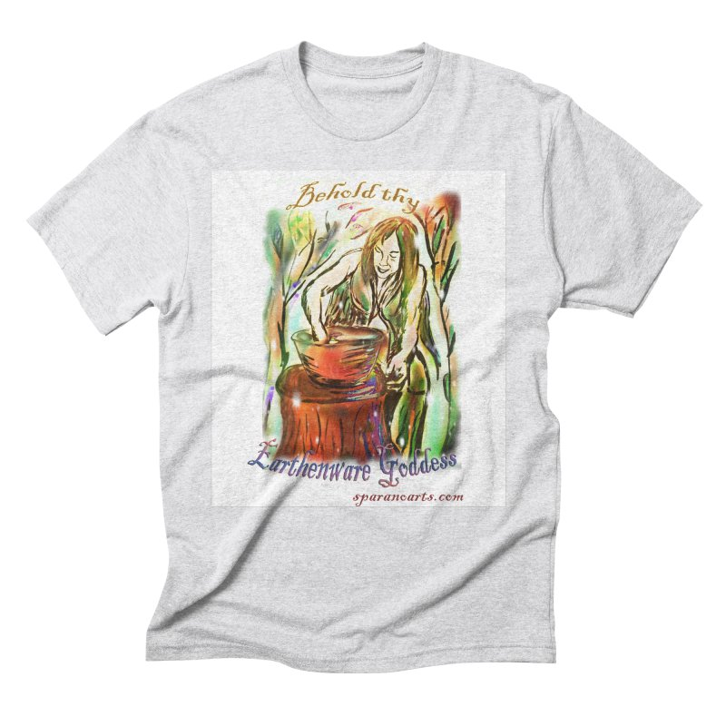 Earthenware Goddess Men's T-Shirt by sparanoarts's Artist Shop