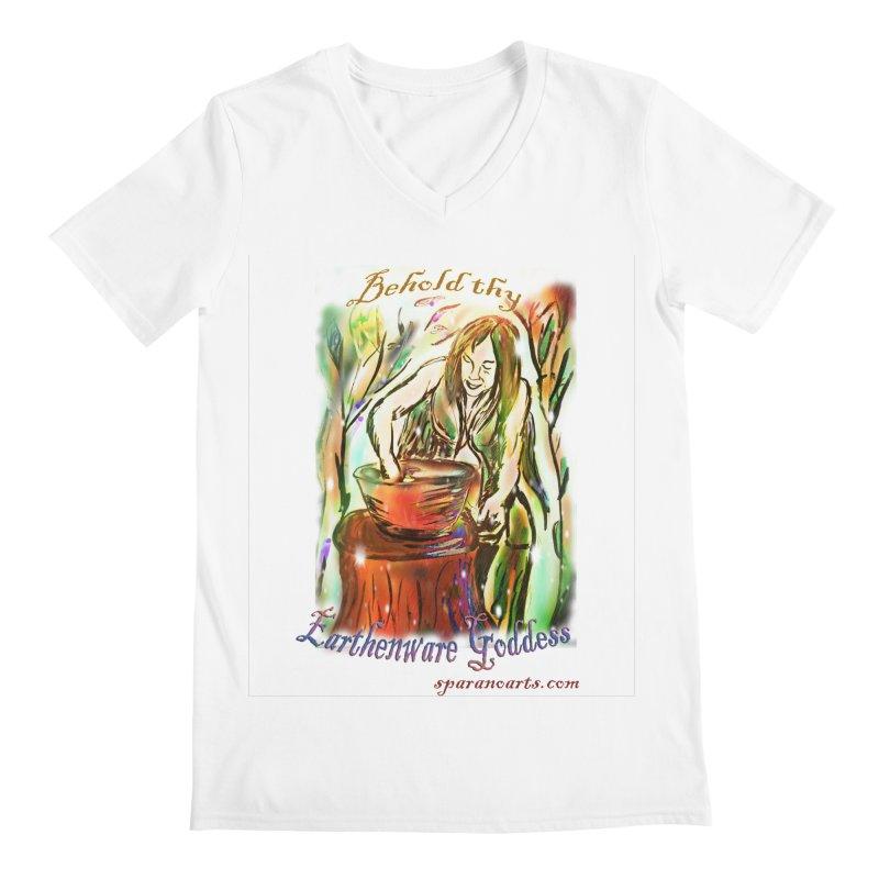 Earthenware Goddess Men's V-Neck by sparanoarts's Artist Shop