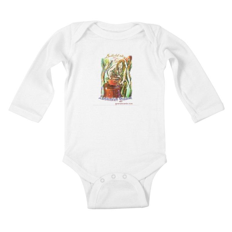 Earthenware Goddess Kids Baby Longsleeve Bodysuit by sparanoarts's Artist Shop