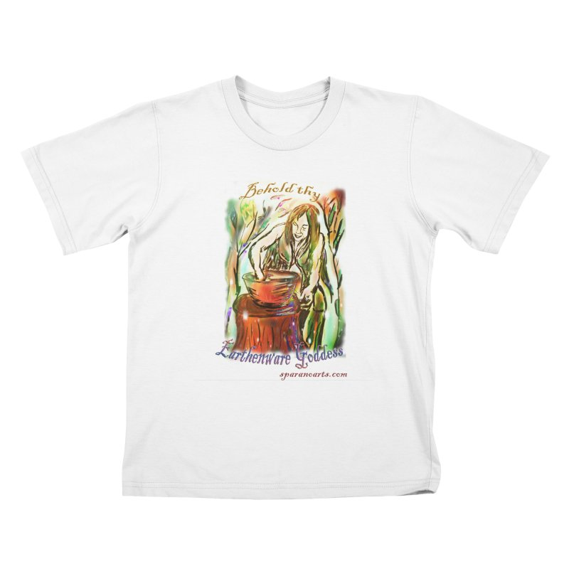 Earthenware Goddess Kids T-Shirt by sparanoarts's Artist Shop