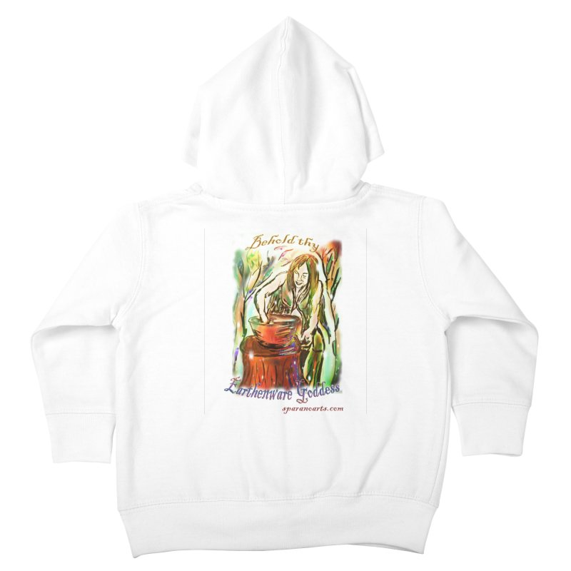 Earthenware Goddess Kids Toddler Zip-Up Hoody by sparanoarts's Artist Shop