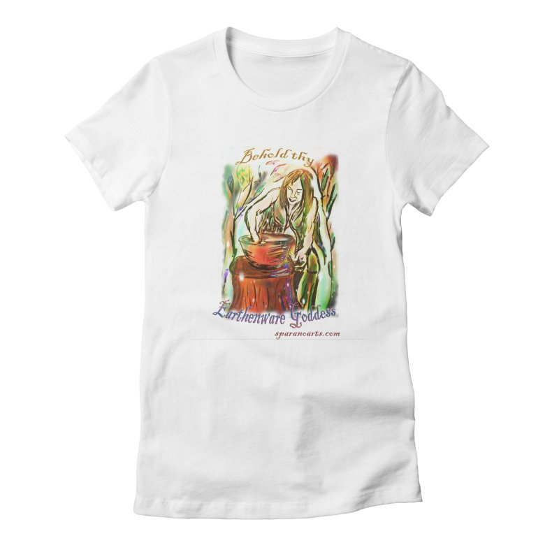 Earthenware Goddess Women's T-Shirt by sparanoarts's Artist Shop