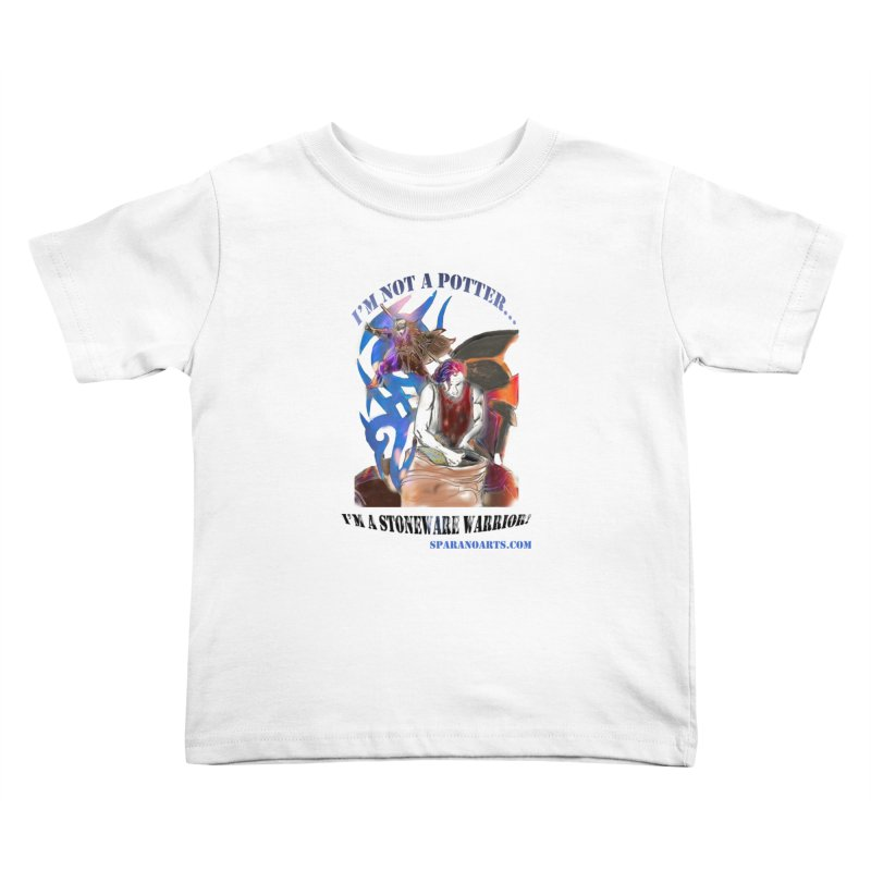 Stoneware Warrior Kids Toddler T-Shirt by sparanoarts's Artist Shop