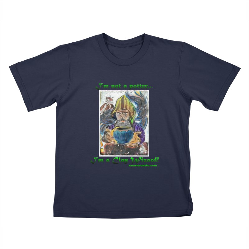 Clay Wizard Kids T-Shirt by sparanoarts's Artist Shop