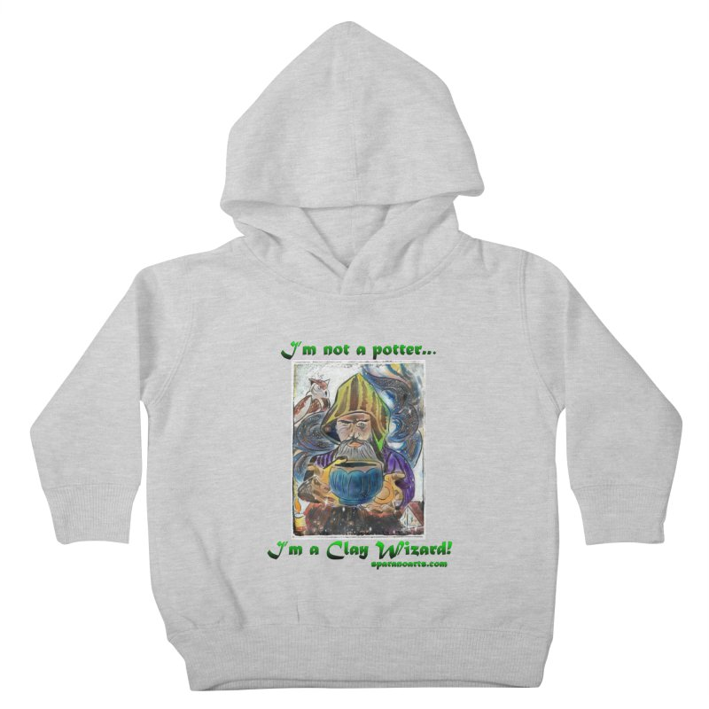 Clay Wizard Kids Toddler Pullover Hoody by sparanoarts's Artist Shop