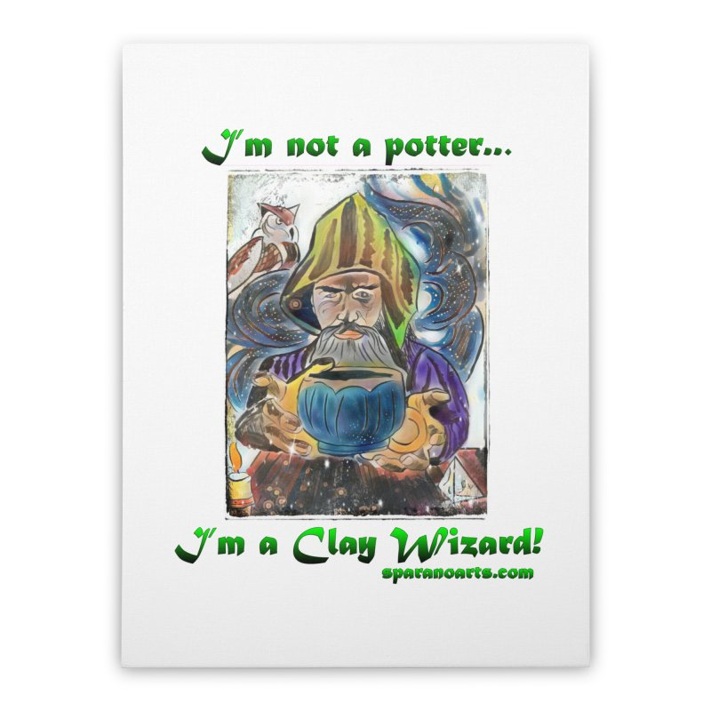 Clay Wizard Home Stretched Canvas by sparanoarts's Artist Shop